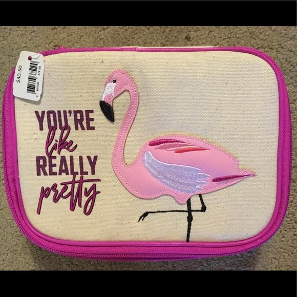 Other - Flamingo cosmetics case